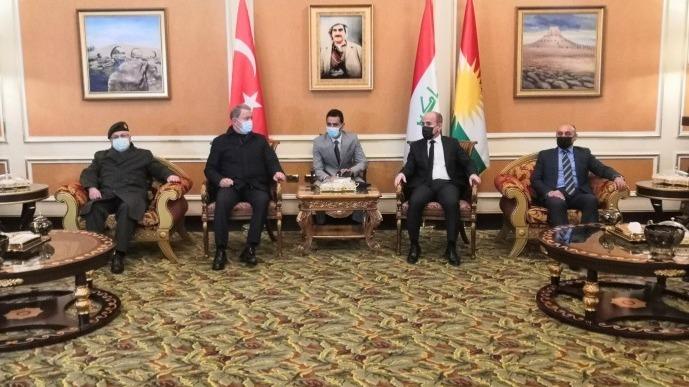 Milli Savunma Bakanı Akar ve Genelkurmay Başkanı Güler Erbil'de