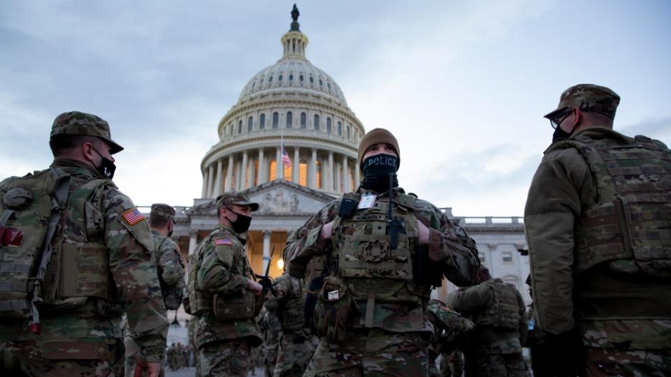 Washington D.C'de Ulusal Muhafızlar nöbet halinde