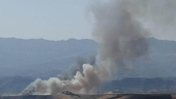 Şırnak'ta yangın: 300 dönümlük arazi küle döndü