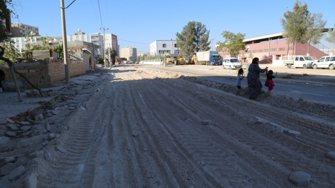 Kayyım yönetimi asfaltlı yol için 200 ağaç kesti