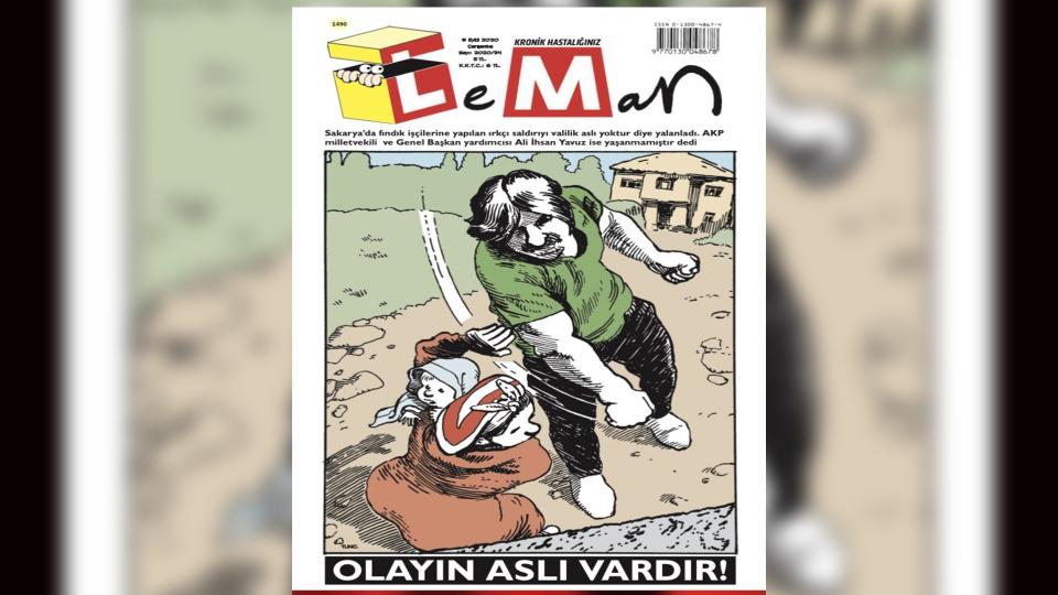 Sakarya'daki ırkçılık Leman'ın kapağında